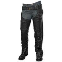 Milwaukee Motorcycle Clothing Co. Unisex Knight Black Leather Chaps