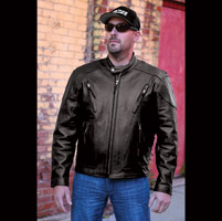 Interstate Men's Jax Touring Black Leather Jacket
