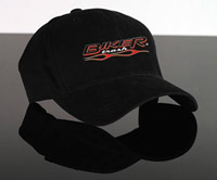 Biker Trash Fitted Flamed Ball Cap