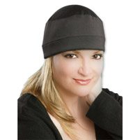 COOLMAX Solid Black Skull Cap