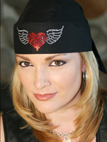 That's A Wrap Winged Heart Embellished Headwrap