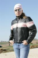 Ladies Pink Striped Scooter Jacket
