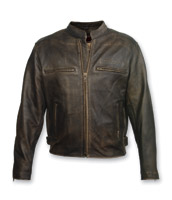 Milwaukee Motorcycle Clothing Co. Crazy Horse Brown Leather Jacket