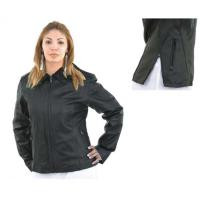 Ladies' Side Zip Leather Jacket