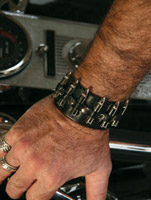 That's A Wrap Bullet Leather Cuff Wristband