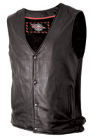 Milwaukee Motorcycle Clothing Co. Men's Ryker Black Leather Vest