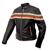 Interstate Leather Women's Scooter Jacket with Stripe