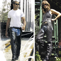 Milwaukee Motorcycle Clothing Co. Unisex Gunslinger Black Leather Chaps