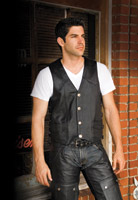 River Road Wyoming Nickel Classic Leather Vest