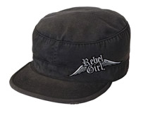 Rebel Girl Black Vintage Cap