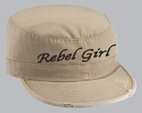 Rebel Girl Brown Vintage Cap