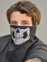 That's A Wrap Nailhead Skull Jaw Fleece Gaiter