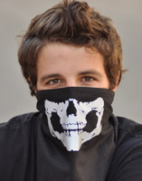 That's A Wrap Reflective Skull Jaw Fleece Gaiter