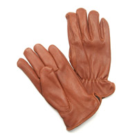 J&P Cycles Lined Deerskin Riding Gloves