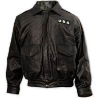 Interstate Leather USA Leather Bomber Jacket