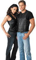 River Road Men's Rambler Leather Vest
