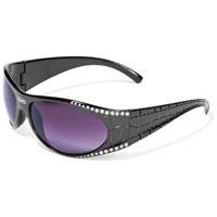 Global Vision Eyewear Marilyn 1.5 Black Frame Sunglasses with Rhinestones