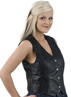 Ladies Basic Leather Vest