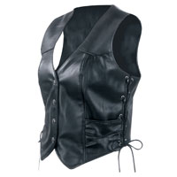 Interstate Leather Ladies' Side-laced Vest
