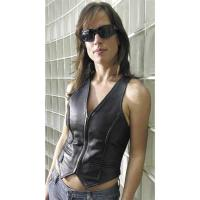 Interstate Leather Ladies' Vest with Braided Seams
