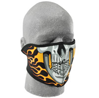 ZAN headgear Burning Skull Neoprene Half Face Mask
