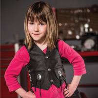 Interstate Leather Kids Black Leather Vest