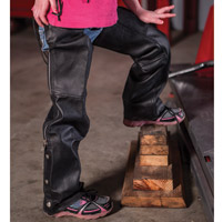 Interstate Leather Kids Black Leather Chaps