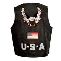 Interstate Leather Men's Eagle Vest