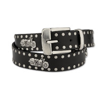 Hot Leathers Chrome and Leather Belt