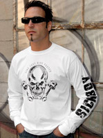 Sick Boy Men's Live Fast-Ride Faster White Long Sleeve T-Shirt