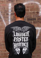 Sick Boy Men's Louder Faster Harder Black Long Sleeve T-Shirt