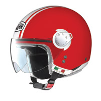 Nolan N20 City Metal Corsa Red/White Jet Helmet