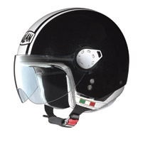 Nolan N20 City Metal Black/White Jet Helmet