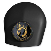 MotorDog69 Black Set Screw Horn Cover Coin Mount with POW/MIA