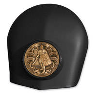 MotorDog69 Black Set Screw Horn Cover Coin with