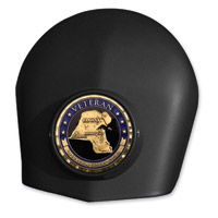 MotorDog69 Black Set Screw Horn Cover Coin Mount with