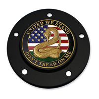 Motordog69 Black 5-hole Timing Cover Coin Mount with Don't Tread on Me Coin
