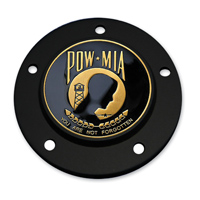 Motordog69 Black 5-hole Timing Cover Coin Mount with POW/MIA Coin