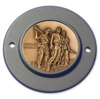 MotorDog69 Black 2-hole Timing Cover Coin Mount with Vietnam Veteran Coin