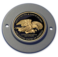 Motordog69 Black 2-hole Timing Cover Coin Mount with Thank You Coin
