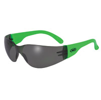Global Vision Eyewear Rider Neon Green Frame Sunglasses with Smoke Lens