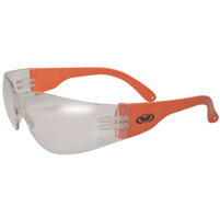 Global Vision Eyewear Rider Neon Orange Frame Sunglasses with Clear Lens