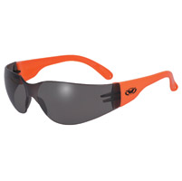 Global Vision Eyewear Rider Neon Orange Frame Sunglasses with Smoke Lens