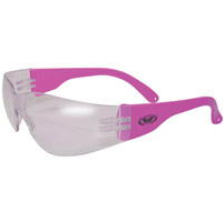 Global Vision Eyewear Rider Neon Pink Frame Sunglasses with Clear Lens