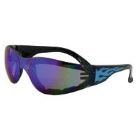 Global Vision Eyewear Rider Flame G-Tech Blue Sunglasses