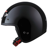 LS2 OF567 Black Open Face Helmet
