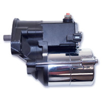 Rivera Primo Black 1.7 kW Starter Motor for Big Twin