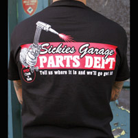 Sick Boy Sickies Garage Parts Dept. T-shirt