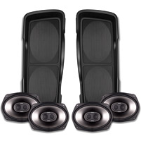 Cycle Sounds Double-Up Saddlebag Speaker Lids with Speakers and Mini Amps