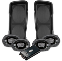 Cycle Sounds Double-Up Saddlebag Speaker Lids with Speakers and 4 Channel Amp